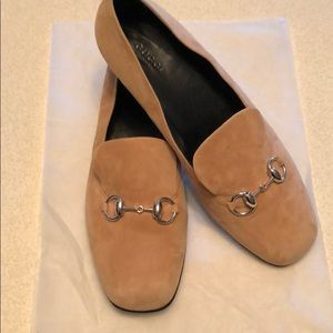 Gucci suede loafers